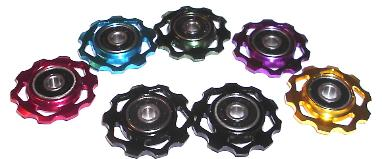 10T Anodized Derailleur Jockey Pulleys Slotted