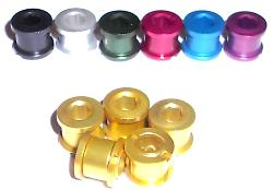Alloy Chainring Nut/Bolt Set of 5 Doubles