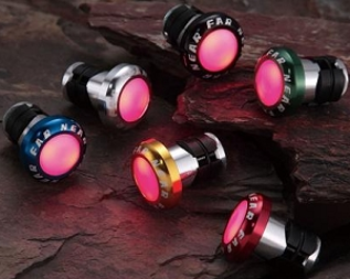 Far and Near Bar End Plugs - LED Lights